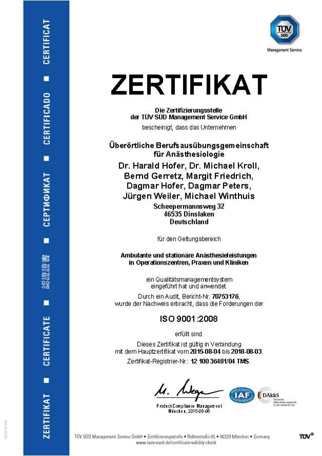 ATN Zertifikat